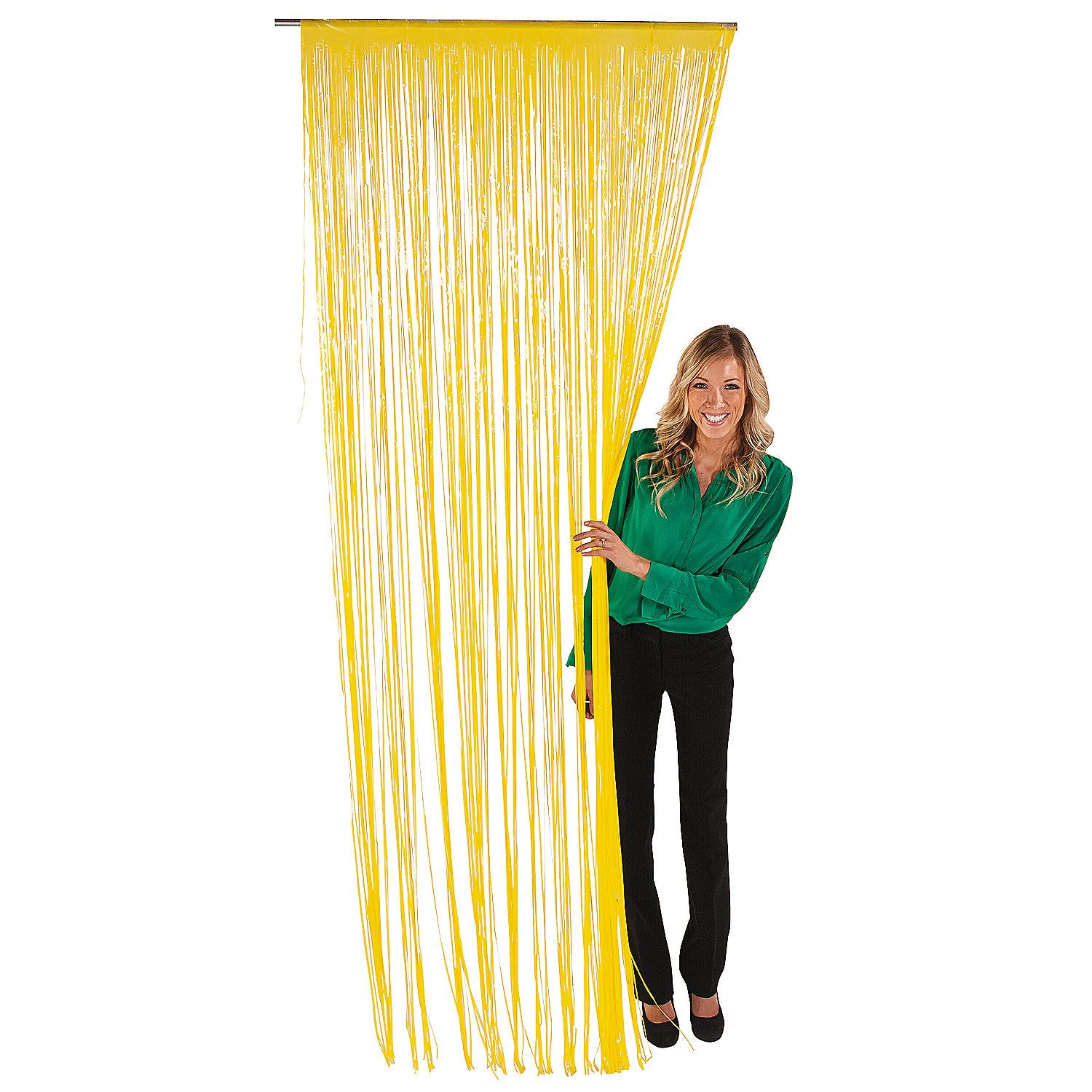Yellow Fringe Door Curtain - OrientalTrading.com