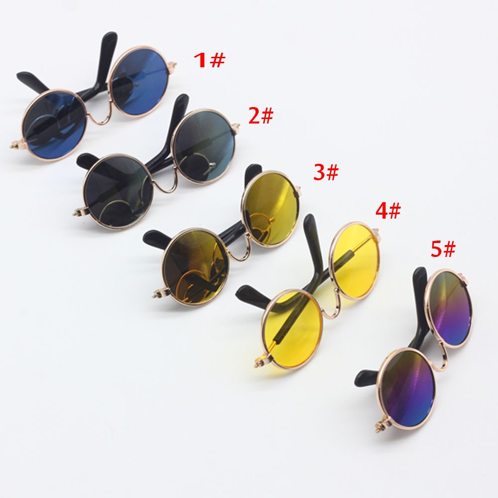 e5f8ea831b7 1PCS Doll Accessories round-shaped Round glasses colorful glasses ...
