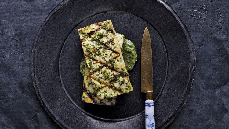 Tofu with Ginger-Cilantro Sauce #cilantrosauce