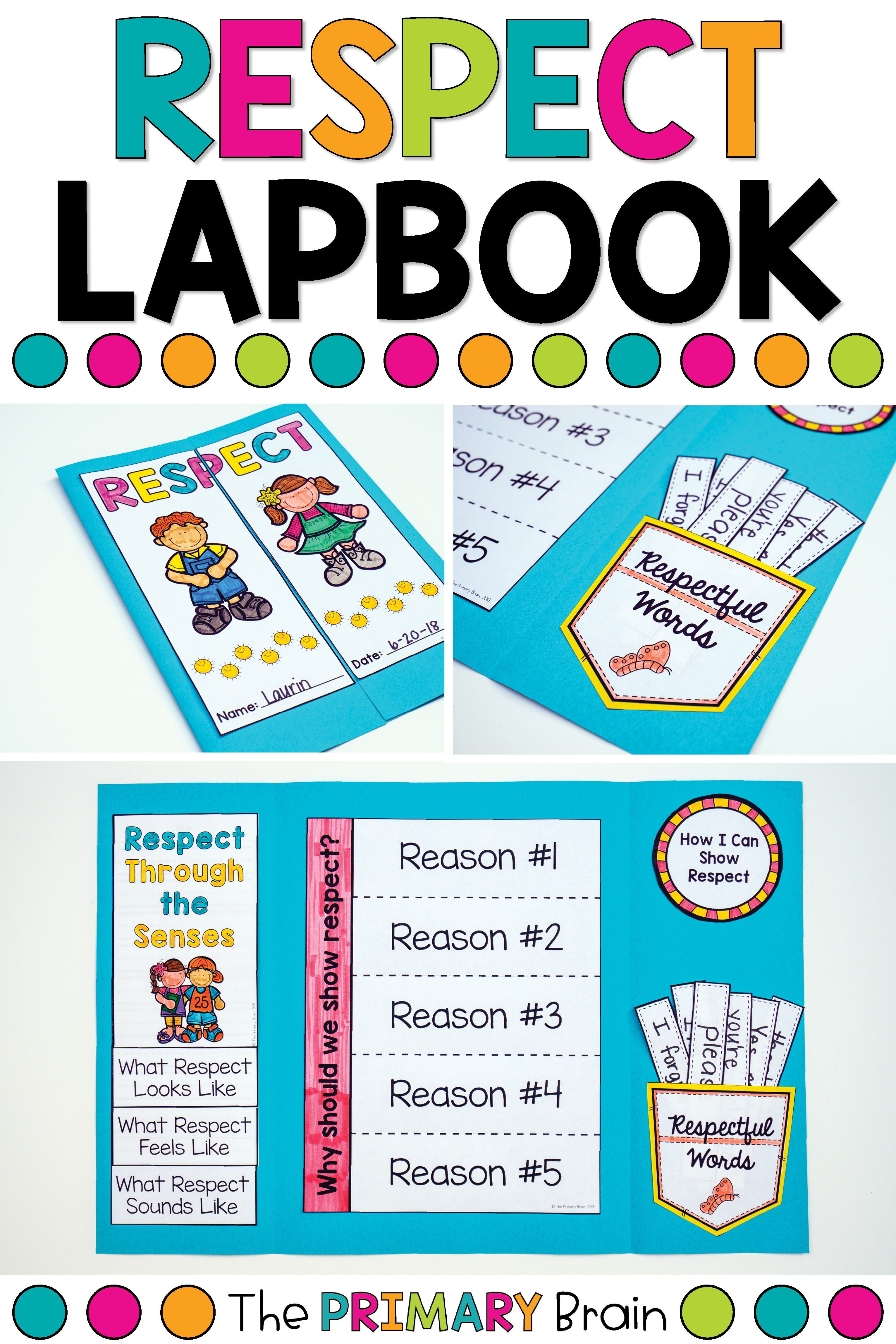 Respect Character Education Lapbook