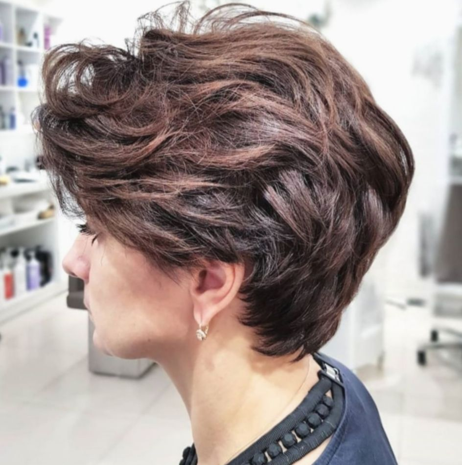 Pin By Sausan Hutabarat On Mom In 2020 Pixie Haircut For Thick Hair Thick Hair Styles Short Hairstyles For Thick Hair