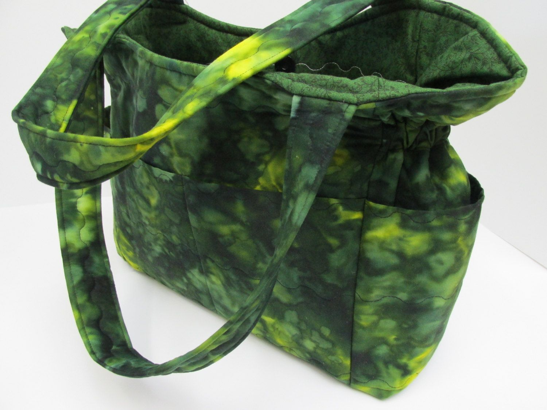 Large Green Batik Purse, Designer Handbag, Batik Fabric Purse, Diaper Bag, Women Handbag, Quilted Handbag, Women Travel Bag, Spring Bag by JustBeautiful161 on Etsy