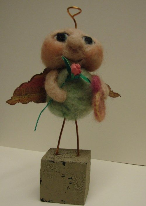 felted sweetheart angel