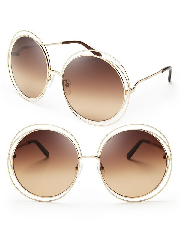 380ba7d36041 Chloé Carlina Round Oversized Sunglasses