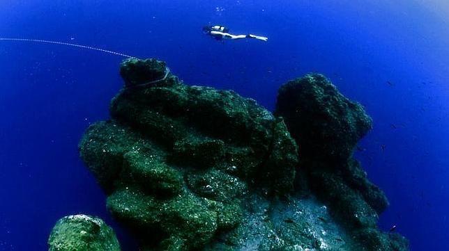 Underwater landscape in El Hierro