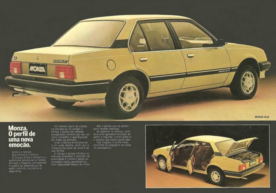 1983 Chevrolet Monza Sl E Brasil Com Imagens Carros E