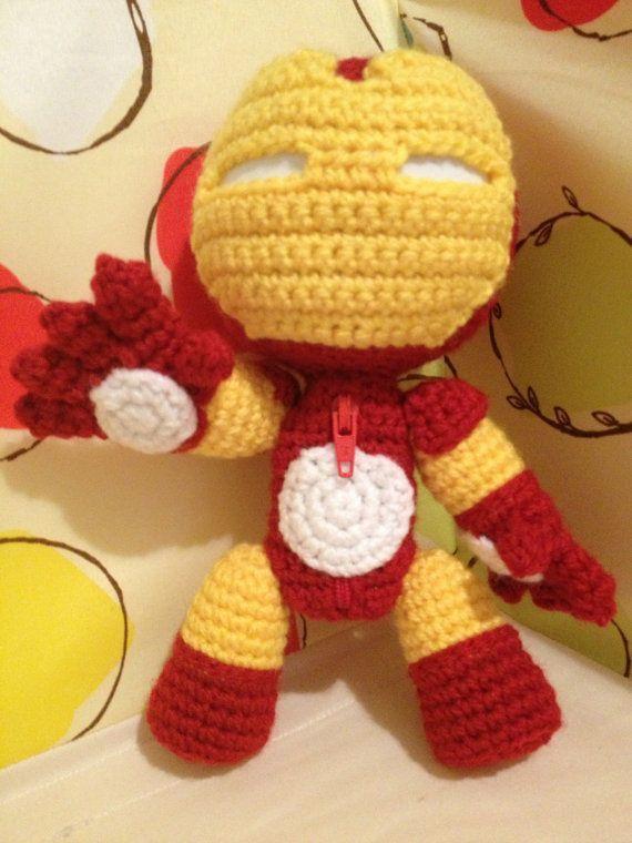 Iron Man Sackboy   Crochet, Crochet dolls, Crochet lovey
