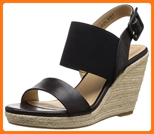 Cl By Chinese Laundry Women S Portia Wedge Sandal Black Burnished