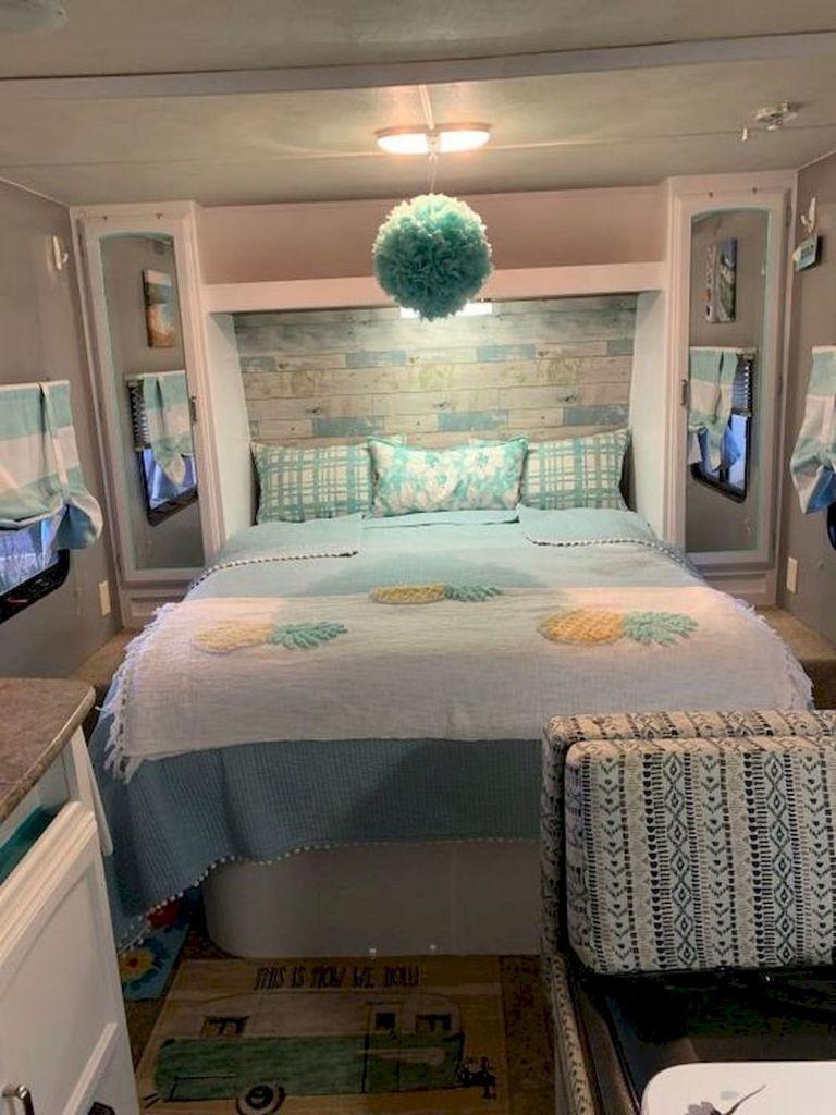 33 Of The Best Rv Bedroom Ideas 1 33decor Camper Decor Camper Renovation Camper Trailer Remodel