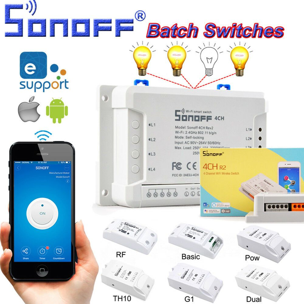 New Sonoff Smart Home WiFi Wireless Switch Module For IOS Android
