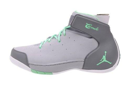 4d80bc68d64c09 Nike Men s Air Jordan Carmelo 1.5 Basketball Shoes-Wolf Gray Green Glow-12