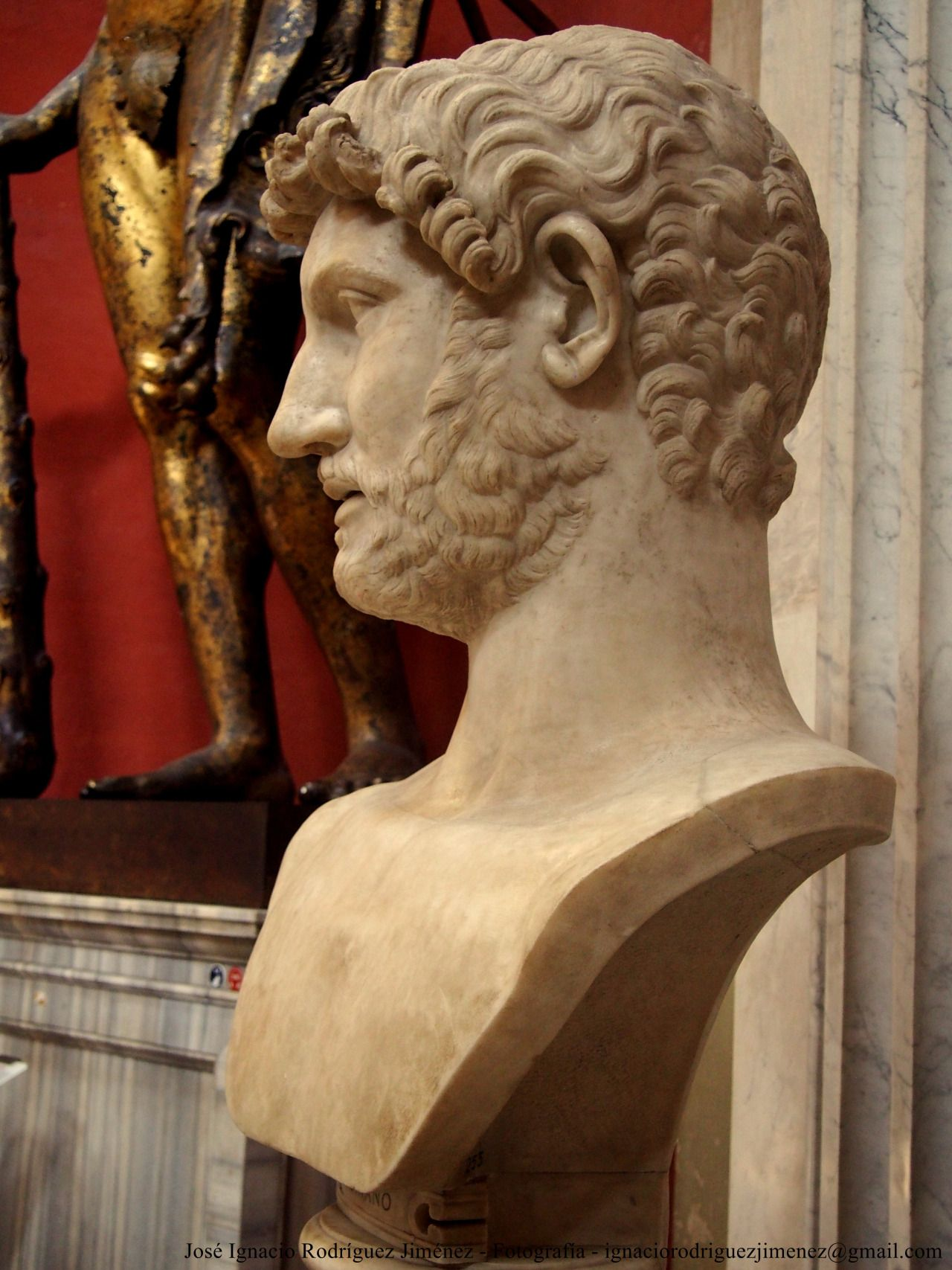 Bust of Hadrian from Hadrian's Mausoleum, 2nd century AC, Vatican Museum, Rome Italy
