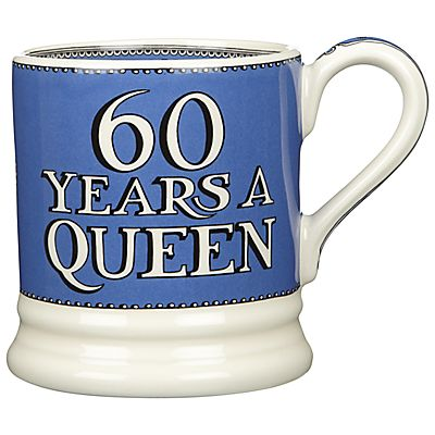 Buy Emma Bridgewater 60 Years a Queen Diamond Jubilee Mug, 284ml, Blue online at JohnLewis.com - John Lewis