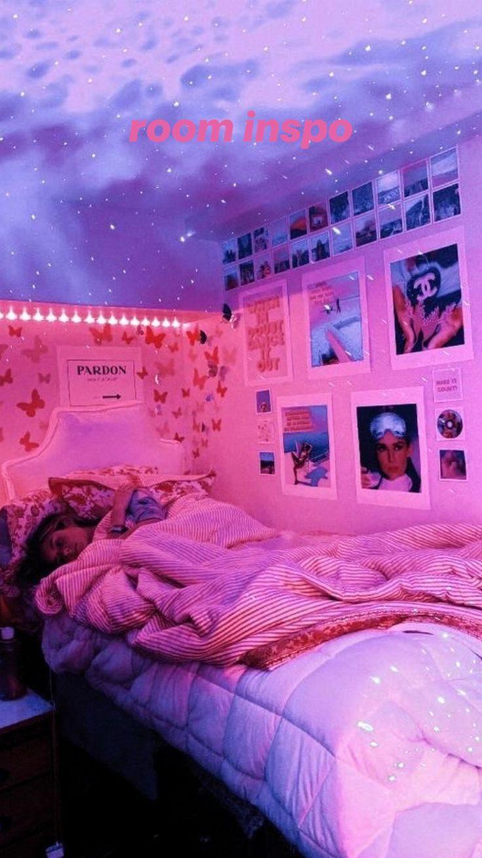 Tik Tok Bedroom Inspo Neon Bedroom Neon Room Redecorate Bedroom