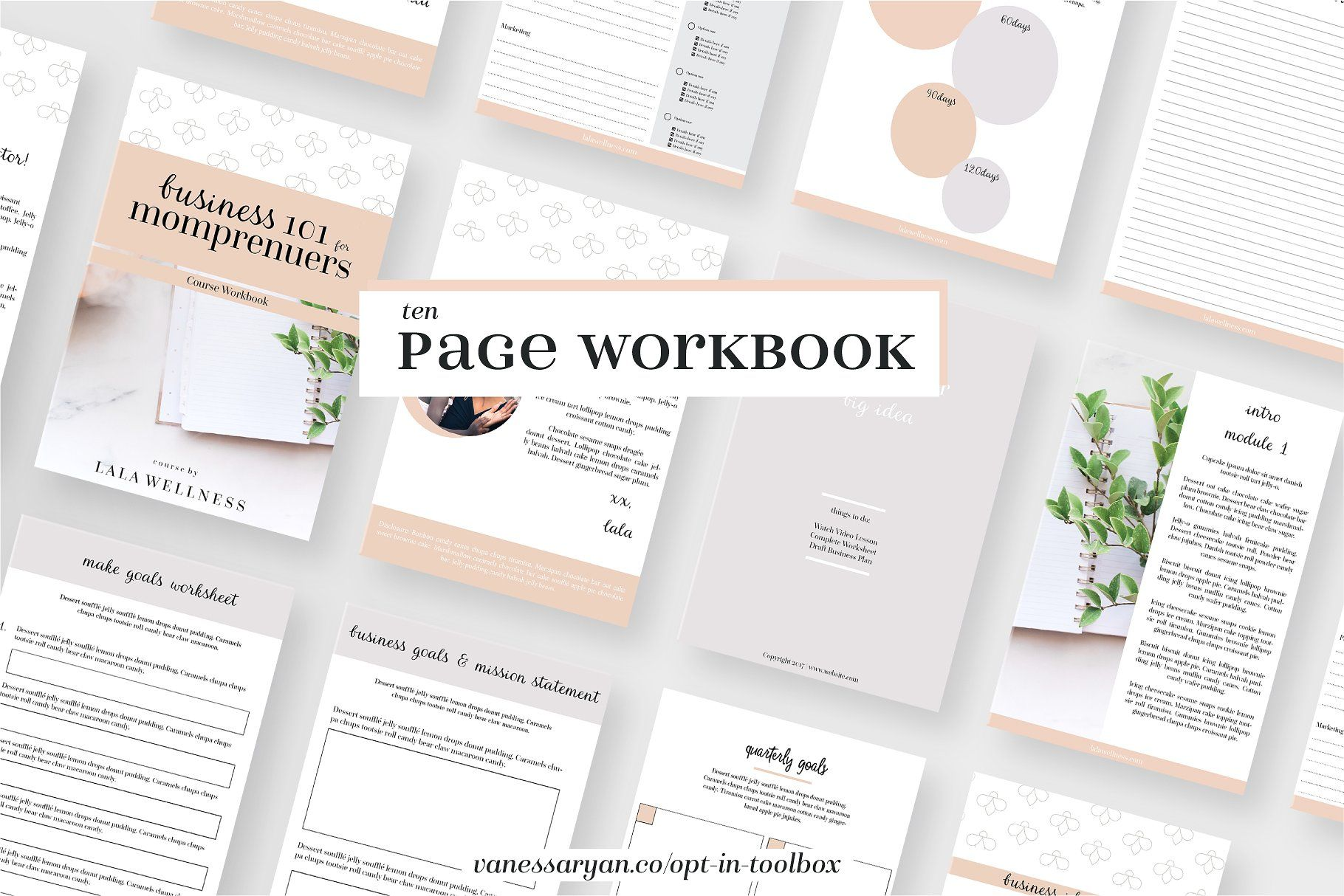 Momprenuer Canva Workbook Indesign | Workbook Templates ...