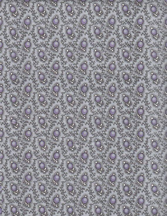 Grey Lavender Fabric Calico Sea Price Per By