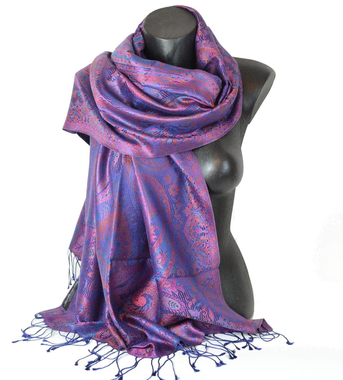 2f25e310acdf Pashmina en soie violet   Etole en soie indienne   Etole, Indien et ...
