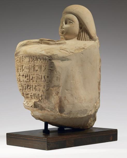 STATUE OF BALD Hathor BAHY. Limestone Egypt, Nag el ...