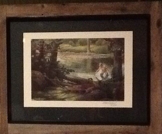 Artwork by Mark Cudney, Bearcreek Studio's Frame by Don Cappuzzo, Shenandoah Pine, Woodcraft.