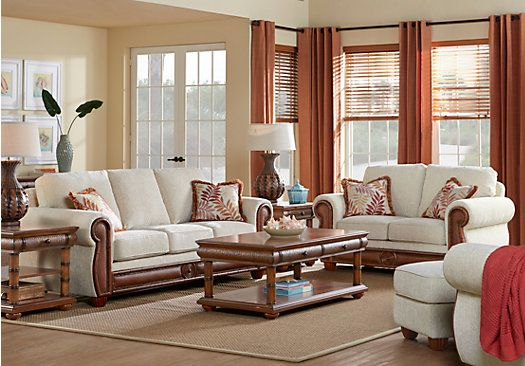 Picture Of Cindy Crawford Home Key West Cove Beige 2 Pc Living Room From  Living Room Sets Furniture
