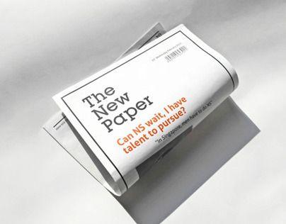 다음 @Behance 프로젝트 확인: \u201cThe New Paper\u201d https://www.behance.net/gallery/12562943/The-New-Paper