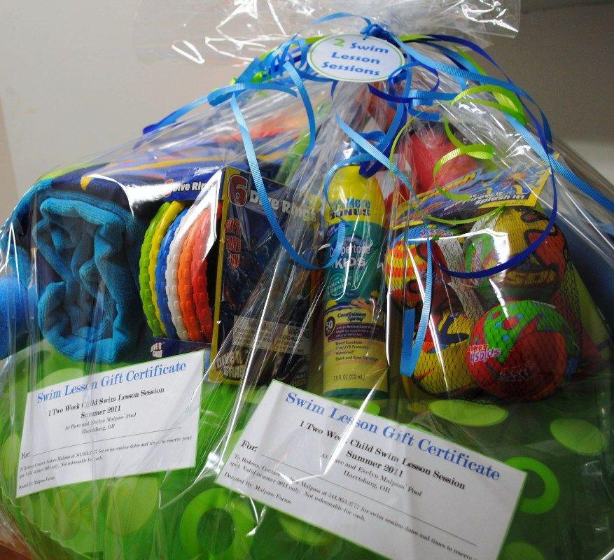Fundraiser Gift Ideas: Fun Summer Basket. Instead Of