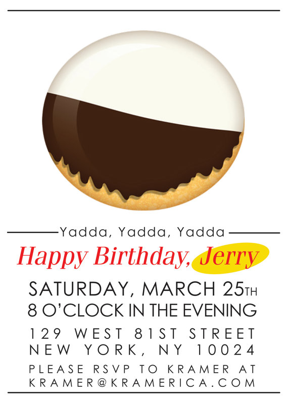 Seinfeld Party Invitation Seinfeld Theme Party Custom