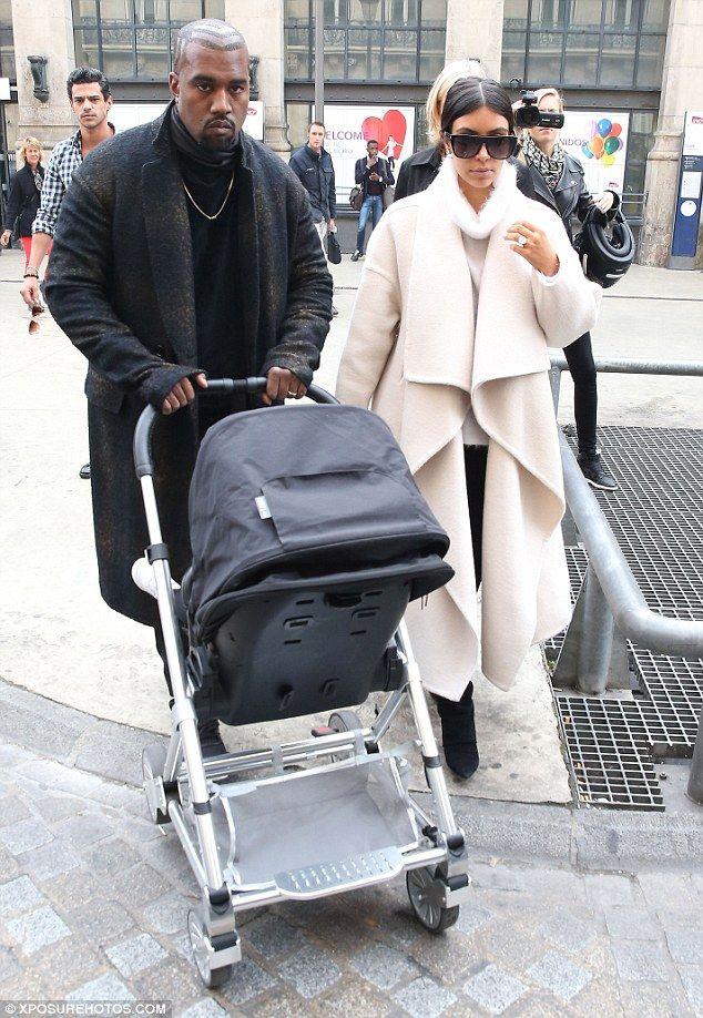 e4443ab522 Only the best: Kim allgedly keeps 'at least' five strollers - the $940  Orbit Baby G2 Trave.