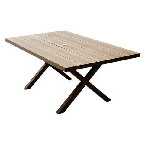 Lonsdale Faux Wood Patio Dining Table Brasha Beer Garden