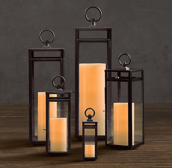 Farol de jard n de metal contempor neo nico pinterest for Faroles en hierro forjado para jardin