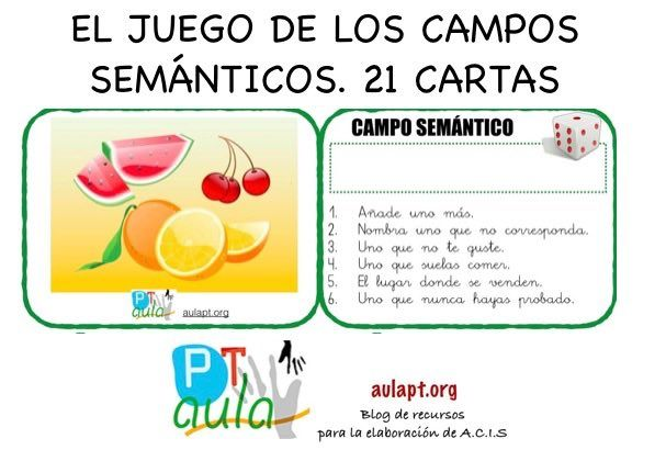 Juego Para Trabajar Los Campos Semanticos Juegos De Vocabulario