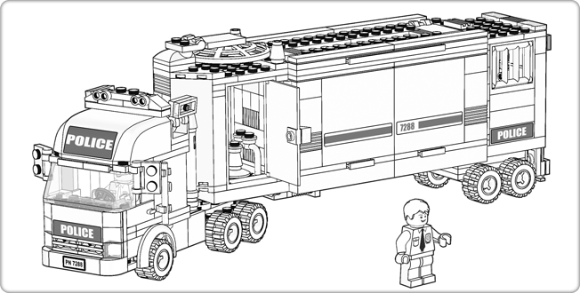 LEGOcom City Downloads Coloring Pages Police Truck party