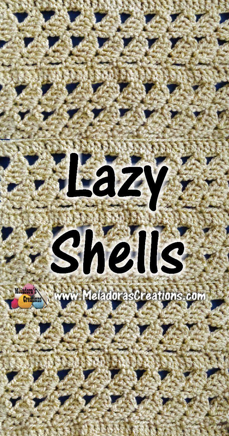 Lazy Shells Crochet Stitch Tutorials | Barb\'s Crochet & Stitchery ...