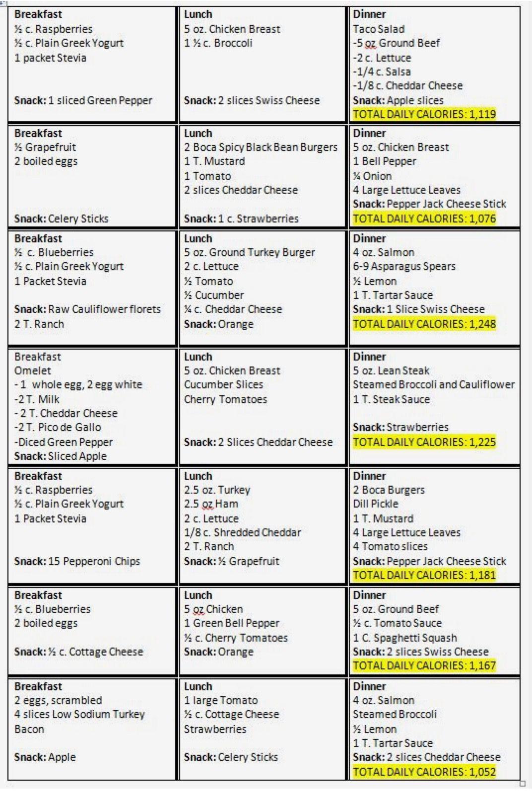 Sample 1200 Calorie Meal Plan | healthy diet plan in 2019 ...
