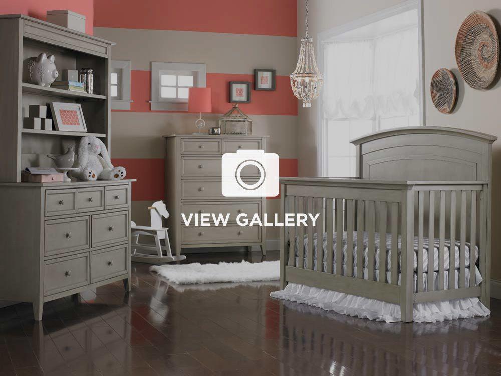 Modern Gray Primo Collection Convertible Crib Grey Satin