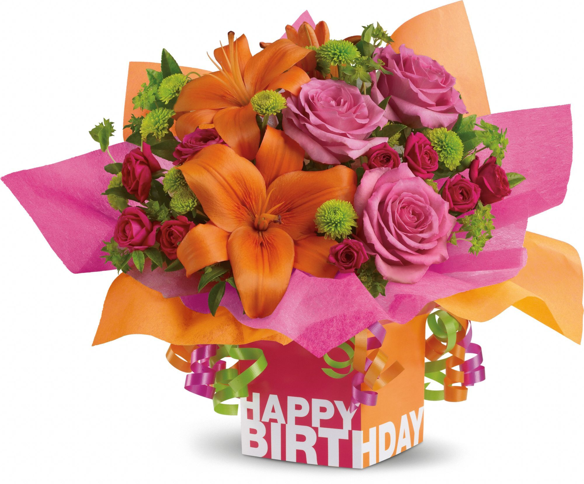Telefloras rosy birthday present flores pinterest flowers send telefloras rosy birthday present for fresh and fast flower delivery throughout metairie la area izmirmasajfo