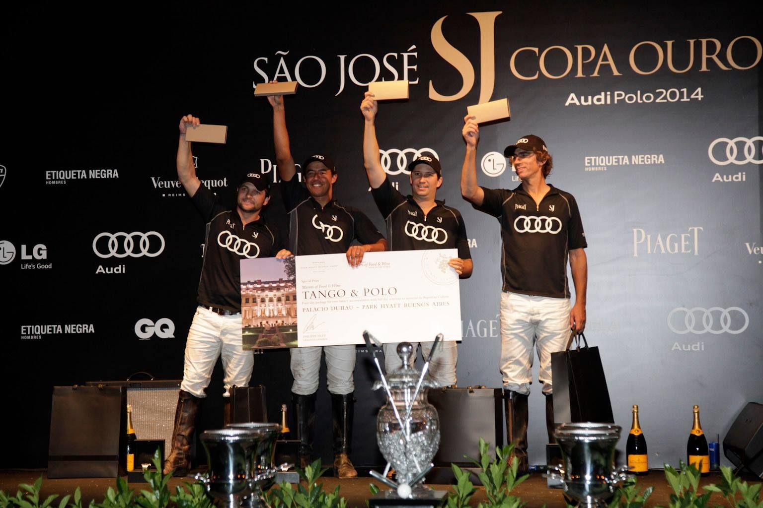 Os vencedores da Copa Ouro.