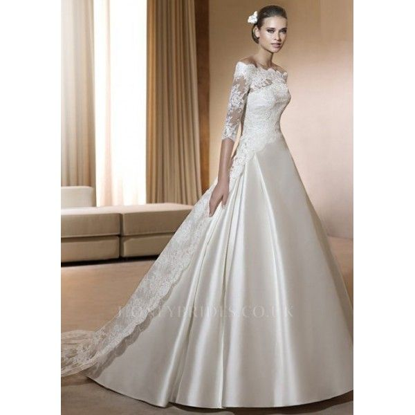 sweet a line v neck natural court train tulle and lace ivoryveiled ...