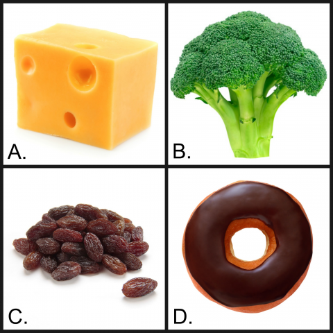Quiz time! Which of these foods can help prevent tooth decay? (Hint: It's not D.)