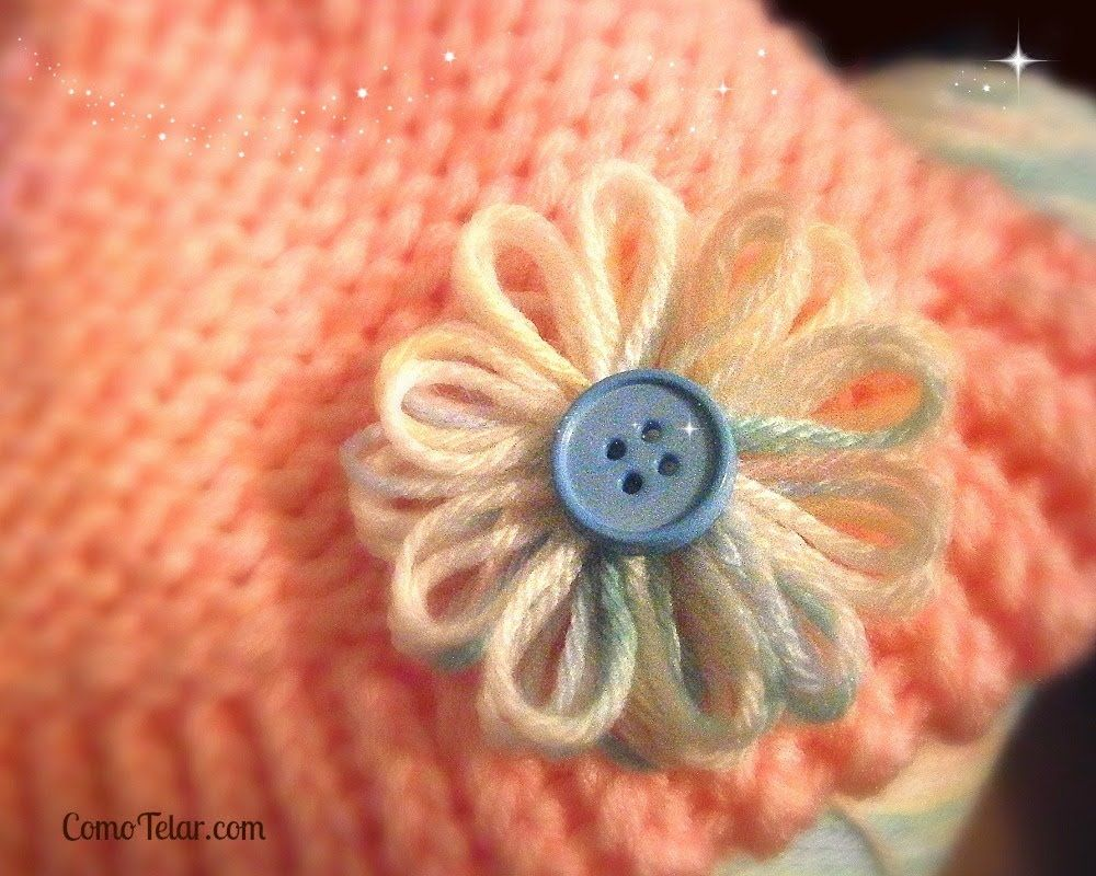 Flower on a Knifty Knitter Flower Loom - Make with Any 12-peg Loom ...