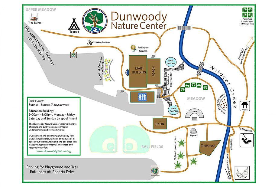 Park Map Dunwoody, Nature center, Night hiking