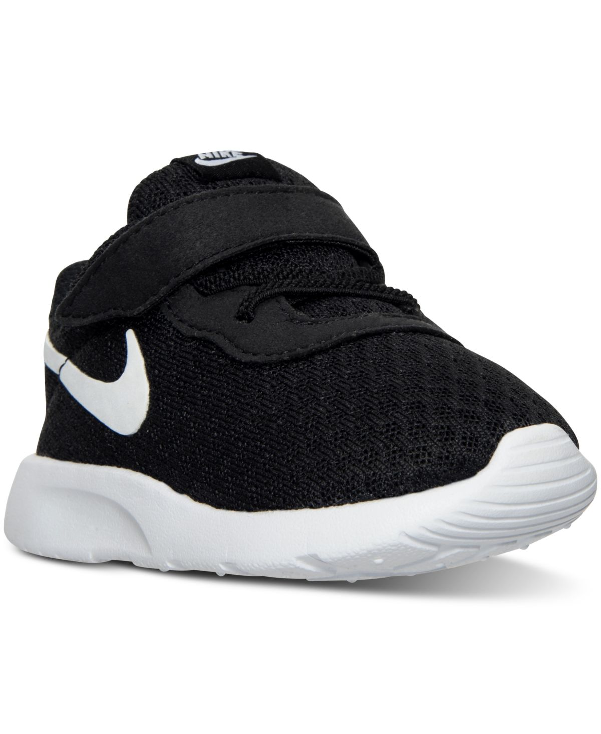 Nike Toddler Boys Tanjun Casual Sneakers From Finish Line Black White White Kid Shoes Baby Nike Shoes Casual Sneakers