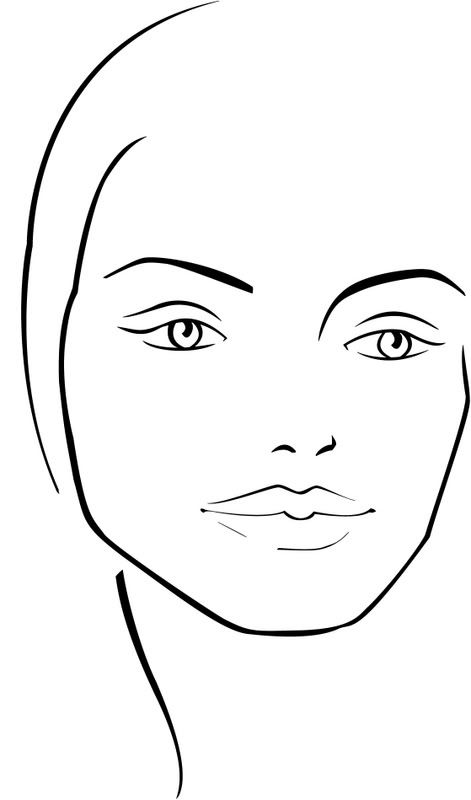 kb-beauty Blank Face Chart Temples (Male and Female) BLANK - blank face templates