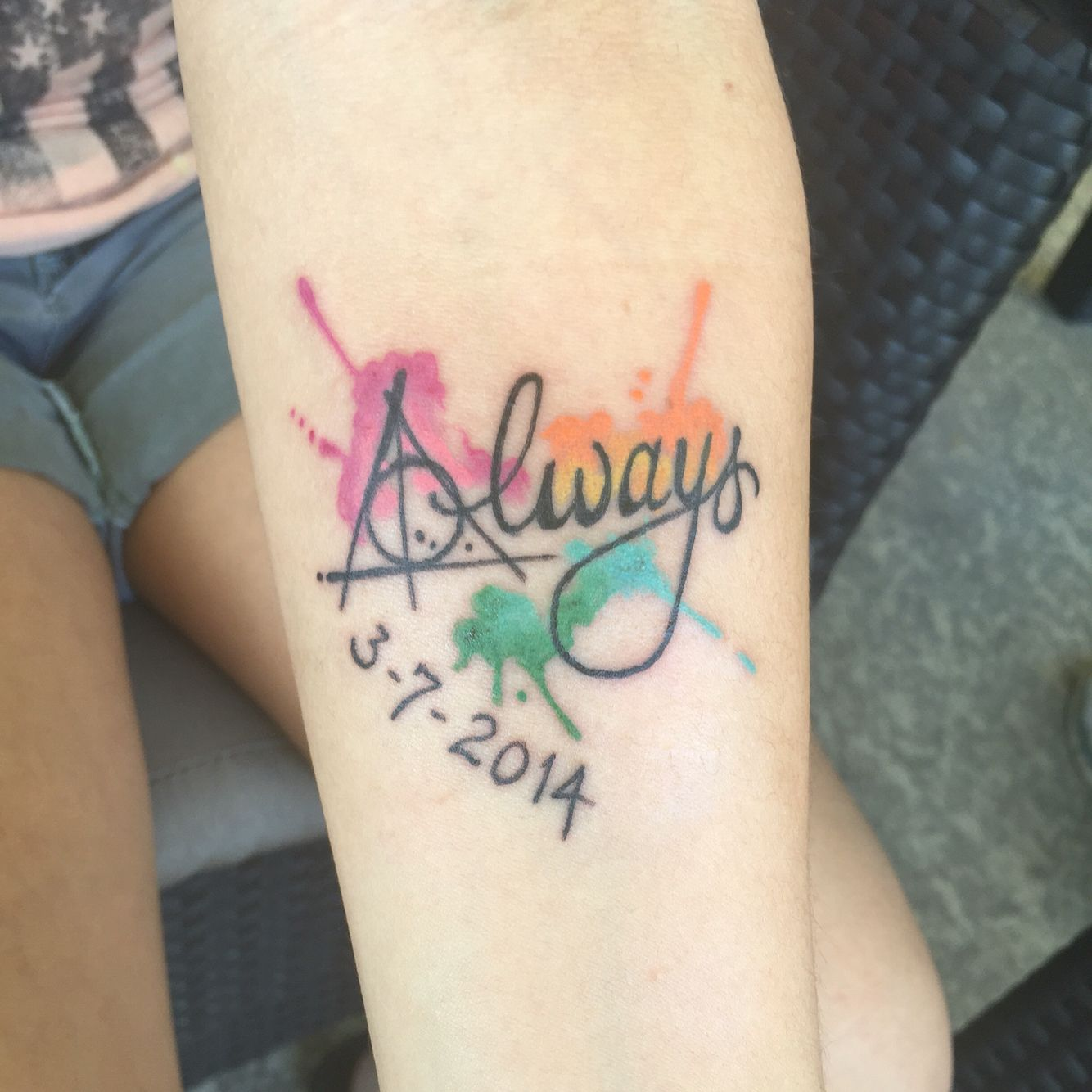 Harry Potter Inspired Watercolor Tattoo In Love With It Always