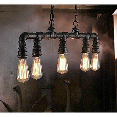 DE Vintage Metal Water Pipe 5-light Pendant Light: Amazon.de: Beleuchtung