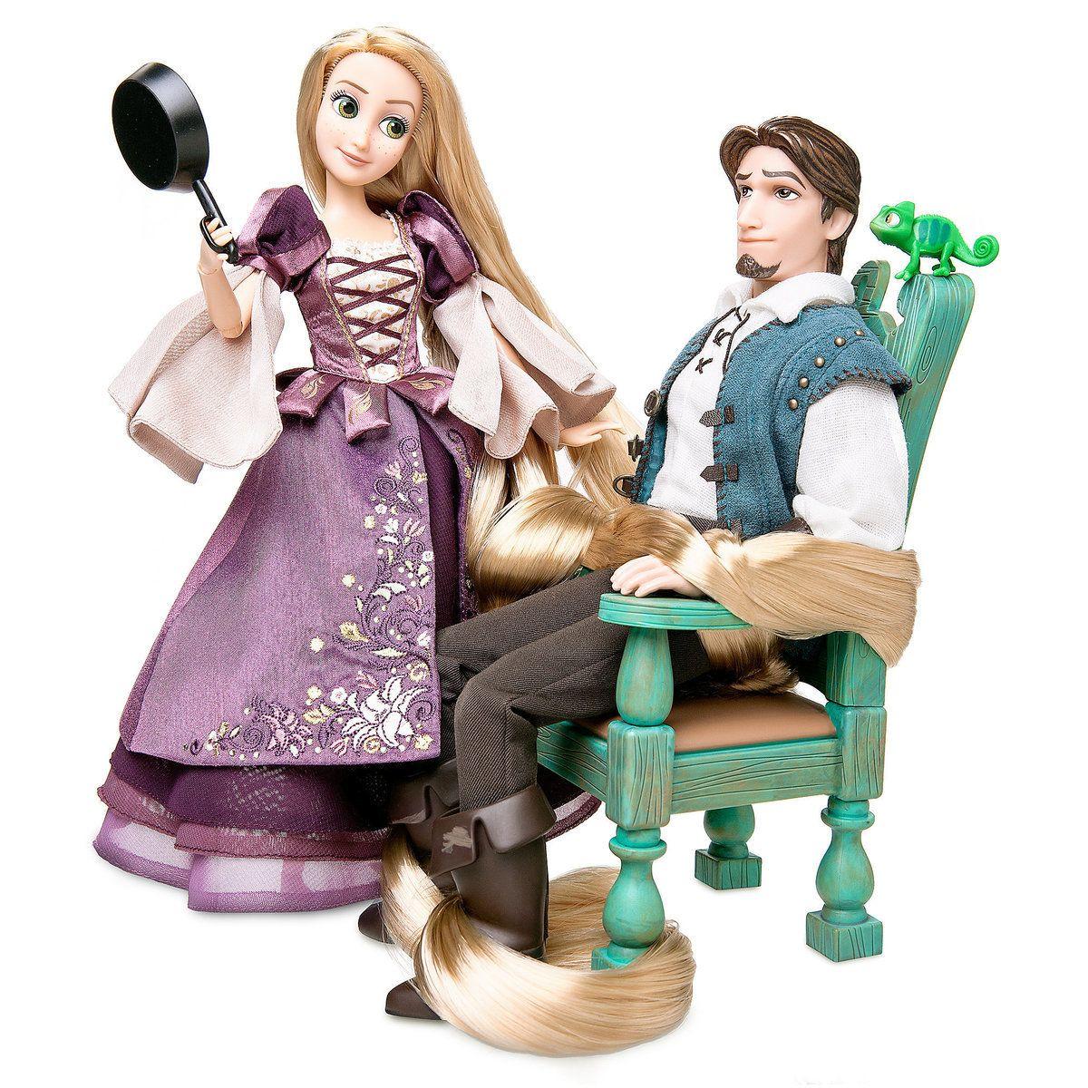 Disney Designer Doll Collection Rapunzel And Flynn Fairytale Series Rapunzel Features Signature Golden H Disney Rapunzel Disney Dolls Disney Princess Dolls