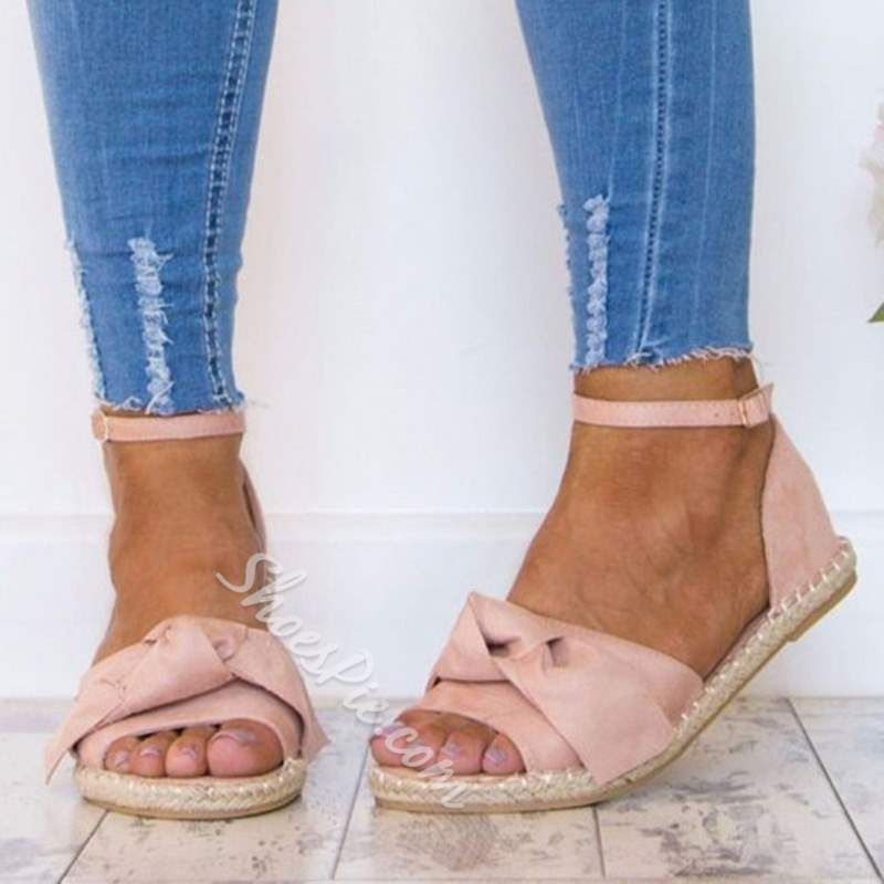 Trendy Open Toe Line Style Buckle Casual Sandals in 2019