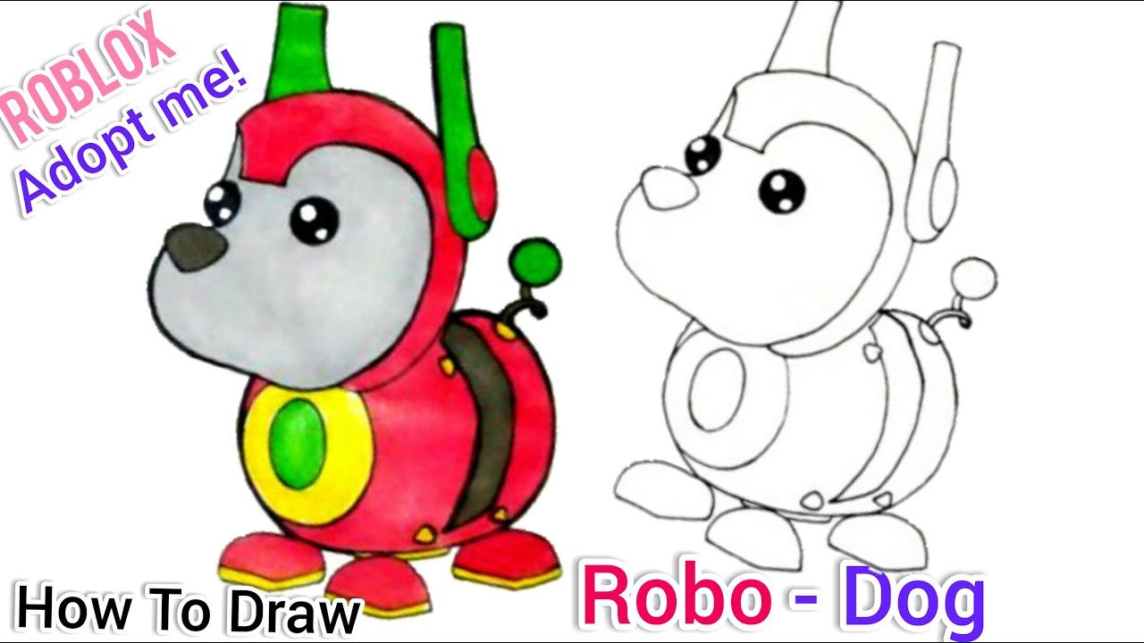 Robodog From Roblox Adopt Me Pets Drawing How To Draw Robodog Easy Youtube Pets Drawing Cute Drawings Roblox