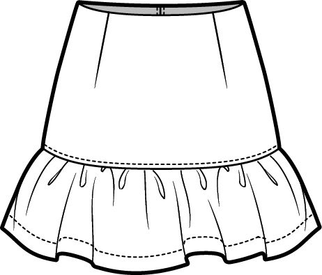 Skirt Clipart Black And White | www.pixshark.com - Images ...