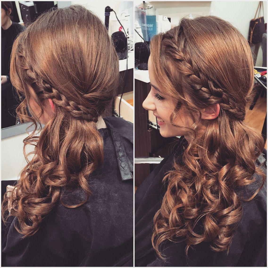 Side Swept Wedding Hair: Side Swept Updo With Braid Done By Tara Tozzi